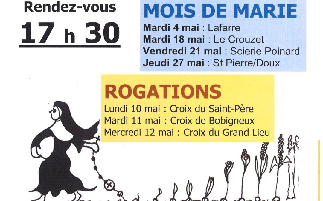 MOIS DE MARIE et ROGATIONS 2021